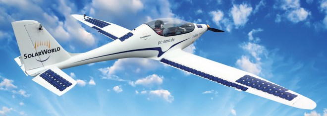 elektra one solar electric plane hr 728x258 Elektra One: Electric Airplane Doubles Range by Installing Solar Panels