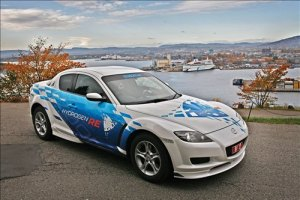 mazda rx8 hydrogen 300x200 Mazda to Use Its Efficient Rotary Engine as Hydrogen Powered Range Extender in Future EVs