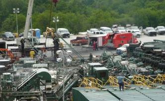 A hydraulic fracturing operation in Pennsylvania