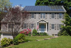 800px Solar panels on house roof Solar Power is Just Like Flu: You Can Catch It From Your Neighbor
