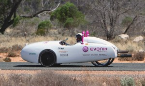 Evonik 300x178 Kite Powered Electric Vehicle Sets Three World Records in Trek Across Australia