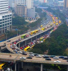 1024px Traffic jam in Haikou Hainan China 01 288x300 New Chinese Fuel Economy Regulations Announced, Both Good and Bad