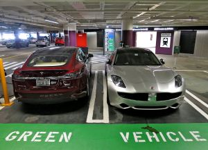 Tesla Model S [left], Green or Not?
