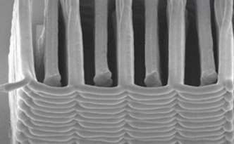 3-D printed microbattery, image courtesy of Jennifer A. Lewis via Phys.org