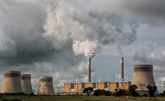 Coal fired power plant in operation
