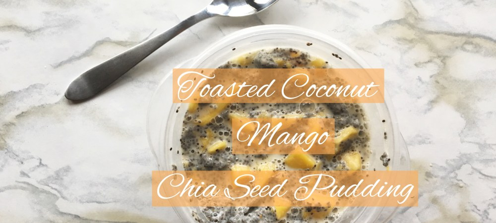 Toasted Coconut Mango Chia Seed Pudding || this vegan, no bake treat is perfect for snacking, breakfasts, even as a meal! At only 3 ingredients, it's simple to whip up & keep on hand!