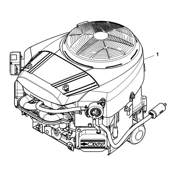 John Deere Complete Gasoline Engine - MIA12766