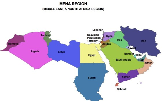 solar energy mena middle east map image