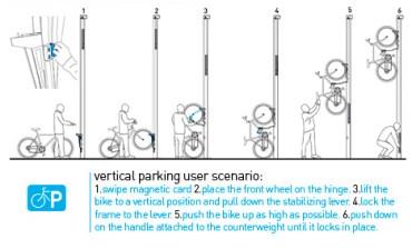 Israeli Designer Yinnon Lehrer Encourages Urban Biking with Vertical Bike Racks