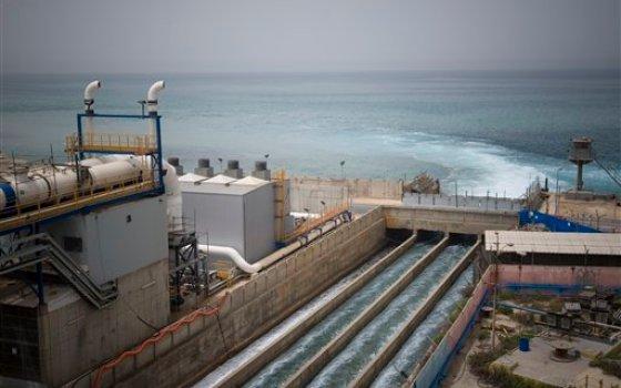 hadera desalination plant photo israel