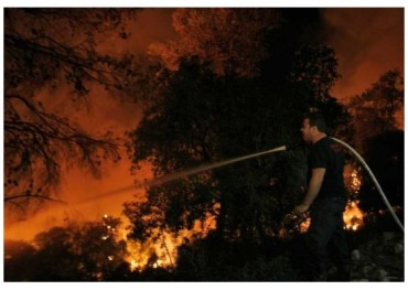 "Greenpeace Responds to Israel Carmel Fire and States ""Climate Changes are Already Here"""