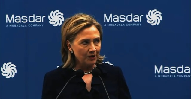 Clinton Lauds Masdar's Renewable Energy Efforts, Is 'Betting On The UAE'