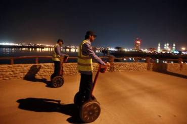 """Segway """"Police"""" Achieve Fame For UAE Corniche Cleanup"""