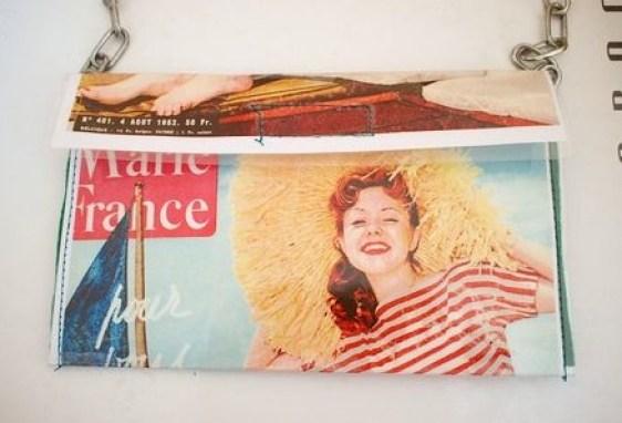 """""""vintage magazine upcycled purse"""""""
