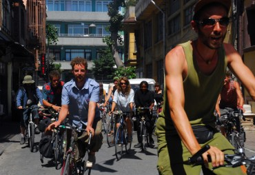 Bicycle Activists Stop in Istanbul En Route to Palestine