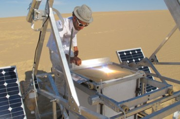 Solar-Powered 3-D Printer Makes Objects From Sahara Sands