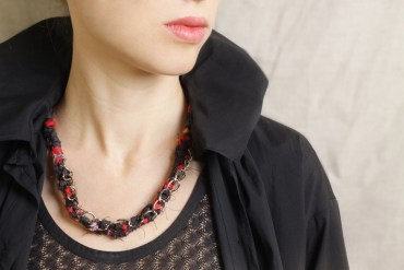Ecco Ukka Weaves Love, Magic and Recycled Materials into Fabric Jewelry