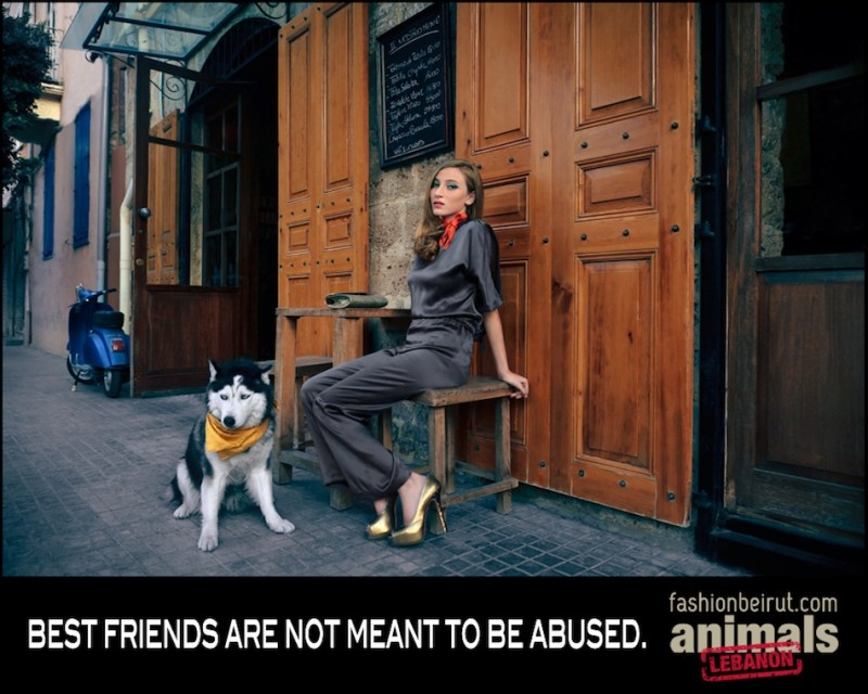 Fashion Beirut's New Photo Campaign Says Animal Abuse Is Wrong