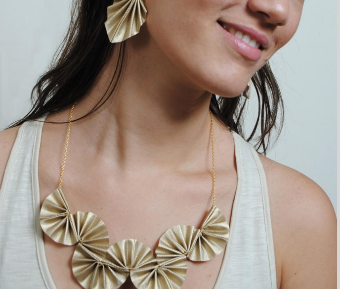 Folded Paper Jewelry That Makes Origami Look Chic