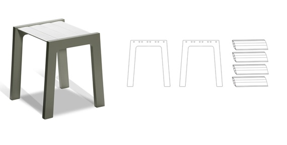 Ugly Plastic Window Shutters Become Chic, Minimalist Furniture Pieces