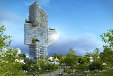 Yaniv Pardo's Twisting Tower for Netanya in Israel