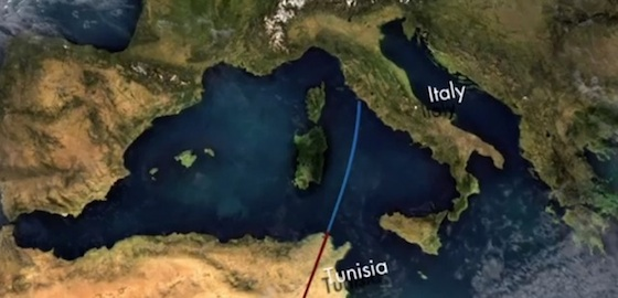 desertec tunisia to italy solar power electricity