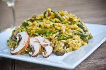 Weekly Vegewarian Recipe: Asparagus and Mushroom Risotto