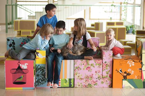 Cardboard Interior Design Upgrades Community Lobby