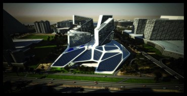Dubai's Vertical Village Has a Skirt of Photovoltaics