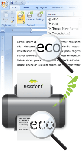 eco font how it works minus one font