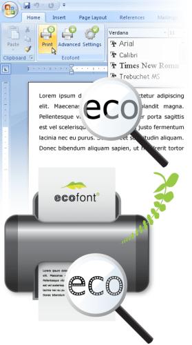 eco font how it works minus one font