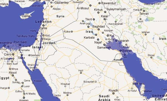 middle east flood maps