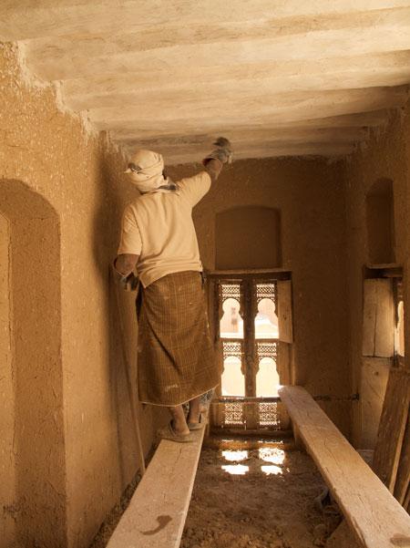 reconstruction work yemen iraq mud architecture