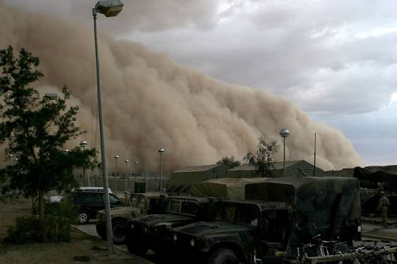 dust storm in Iraq sand