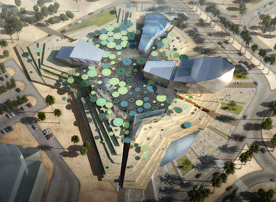 Lily Pad Roof to Shade and Power Kuwait's Sabah Al-Ahmad City Culture Center