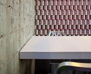 Israel's Shumis Pizza Joint Features Row Upon Row of Recycled Tomato Cans