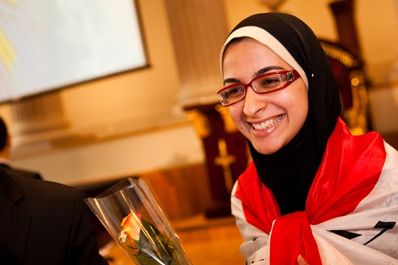 AzzaAbdel Hamid Faiad, Egyptian young scientist, European Union Contest for Young Scientists, plastic to biofuel