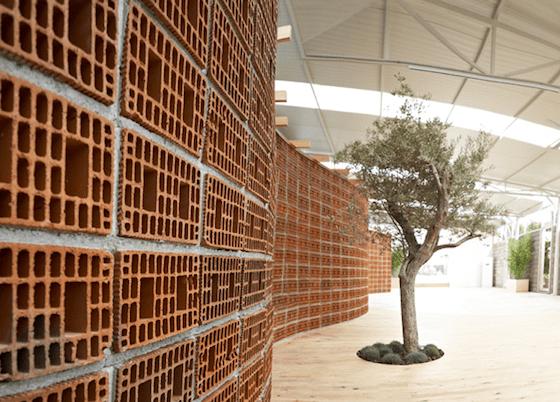 Turkish Furniture Store Transformed by Curvy Brick Wall