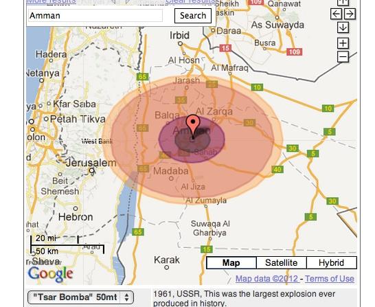 amman jordan nuclear bomb