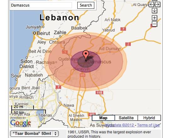 beirut lebanon nuclear bomb