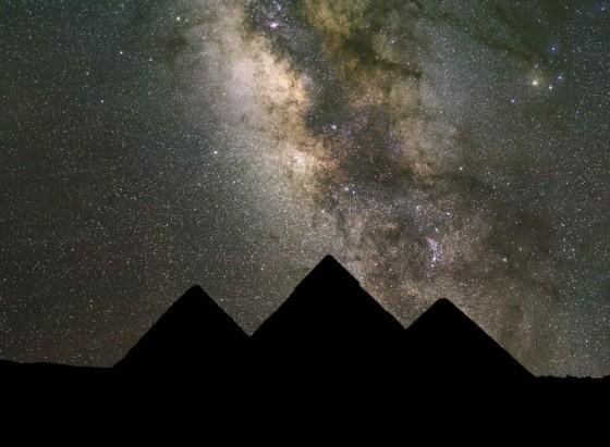 giza pyramids milky way stars align egypt