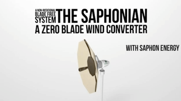 Saphonian Blade-less Wind Turbines Save Birds and Energy
