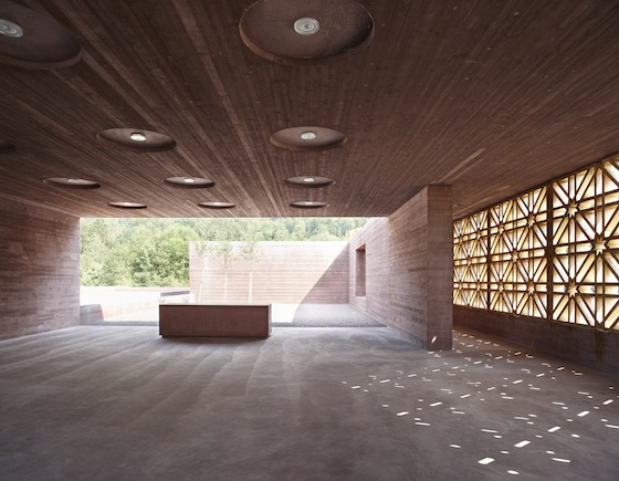 Islam, cemetery, Austria, green design, sustainable design, bernardo bader