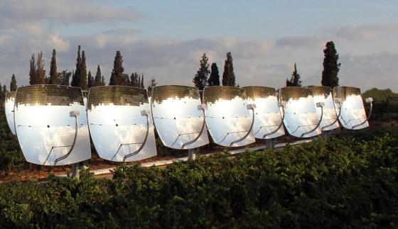 israel solar panel mirrors