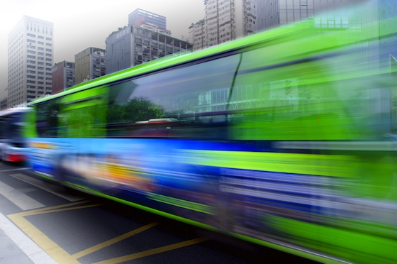 Bio-Powered Green Bus Fitted With Recycled Materials Cruises Dubai