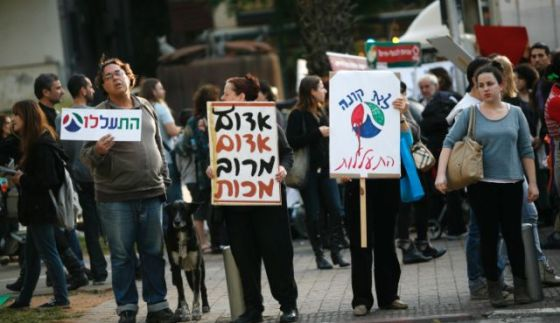 protest animal rights meat industry israel