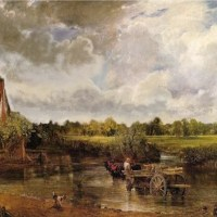constable haywain painting without trees