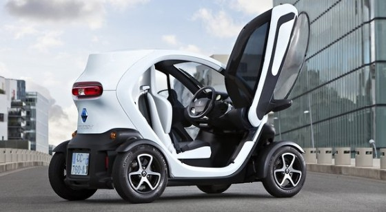 New Renault Twizy Electric Car Being Tested in Tel Aviv Rental-Share Plan