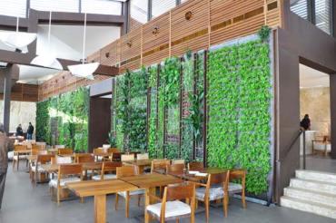 Soaring Vertical Garden Greens Al-Sultan Ibrahim Restaurant in Lebanon