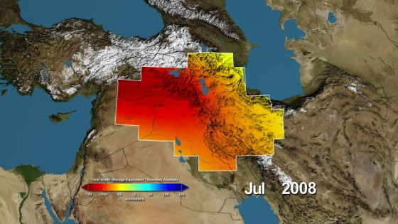 NASA Watches Underground Fresh Water Sea Vanish from the Middle East (VIDEO)